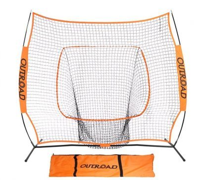 OUTROAD Softball & Baseball Practice Net 7 x 7 – Portable Practice Net