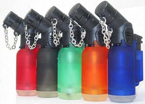 Pack of 5 Single Jet Flame Torch Lighter Windproof Refillable Cigarette Lighter