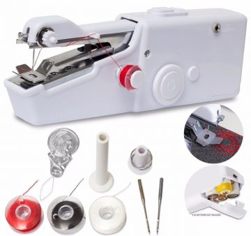 Portable Sewing Machine, Mini Sewing Professional Cordless Sewing Handheld Electric Household Tool