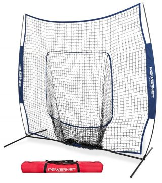 PowerNet Team Color Baseball Softball 7x7 Hitting Net