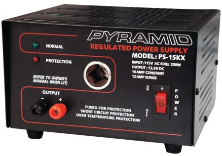 Pyramid PS15KX 10 Amp 13.8-Volt Power Supply
