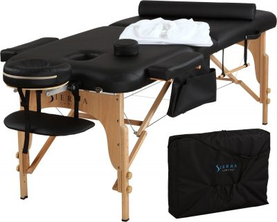 portable massage table by sierra