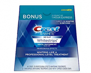 Crest 3D White Professional Effects Whitestrips Dental Teeth Whitening Strips Kit, 20 Treatments