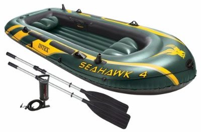 Intex Seahawk 4 4 Person Inflatable Boat Set