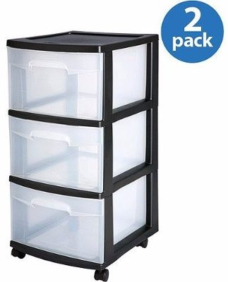 #1 Sterilite 3-Drawer Medium Cart