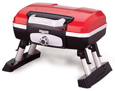 10. Cuisinart Red Portable Tabletop Gas Grill (CGG-180T)