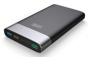 Vinsic 20000mAh Power Bank, Ultra Slim External Battery Pack Backup Portable Charger with Qucik Charger, Type C, Smart USB Outputs for All Smartphones