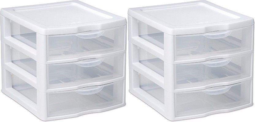 #10 STERILITE Organizer Mini 3 Drawer