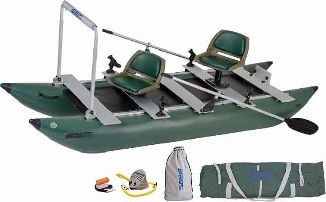 #10 Sea Eagle Green 375fc Inflatable FoldCat Fishing Boat