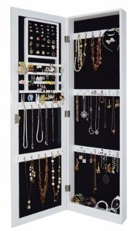 #10 Wall Mount Jewelry Armoire Wooden Over the Door Cabinet