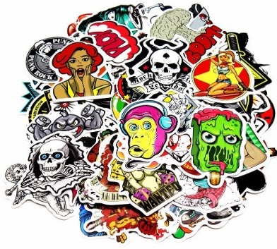 #13 Nuoxinus Car Stickers [100pcs], Laptop Stickers Skateboard