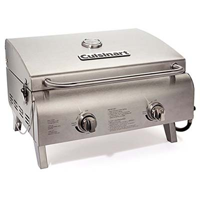 2. Cuisinart CGG-306 Stainless Steel Tabletop Grill