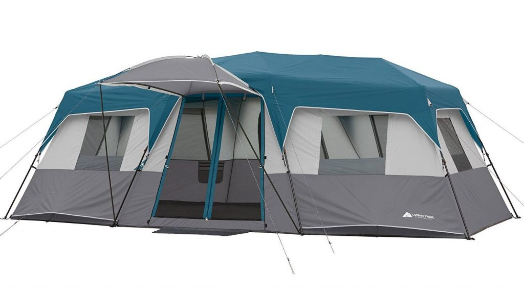 Ozark Trail 20 Person Tent 20u2032 x 10u2032 x 80u2033 12-Person Instant Cabin Family Tent 3-Room Layout with 2 Removable Room Dividers  sc 1 st  TheZ9 & Top 10 Best 20 Person Tents in 2018 - Buyeru0027s Guide
