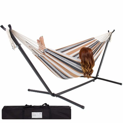 #2 Best Choice Products Double Hammock with Space Saving Steel Stand