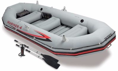 #3 Intex Mariner 4, 4-Person Inflatable Boat Set