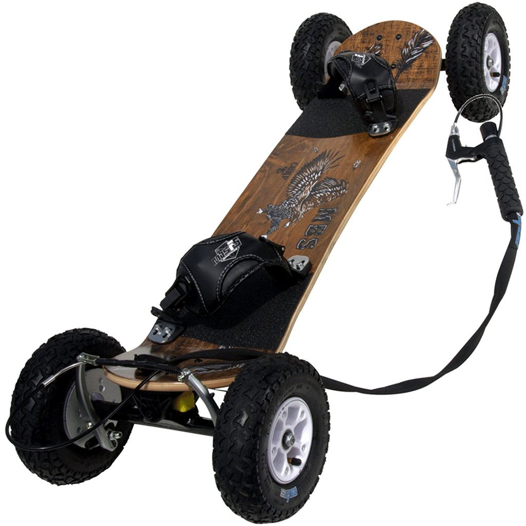 "MBS Comp 95X Mountainboard, 46"", Wood Grain Brown, Off-Road Skateboards"