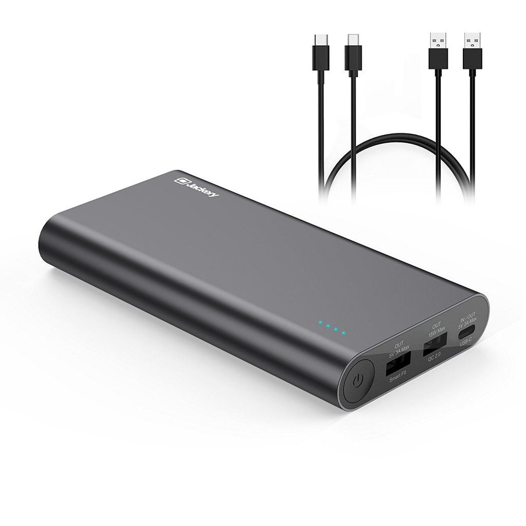 Jackery, USB C Portable Charger, Jackery Titan S 20100mAh 30W Total Output QC2.0 Qualcomm Quick Charge External Battery