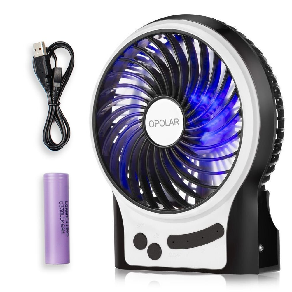 OPOLAR F201 Rechargeable Portable Mini USB fan with Upgrade 2200mAh Battery