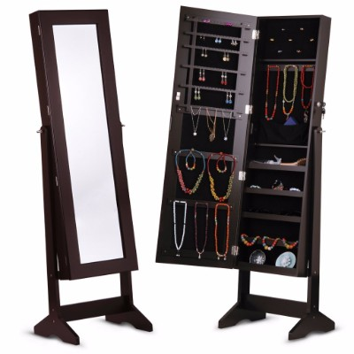 #5 LANGRIA Lockable Jewelry Cabinet Jewelry Armoire