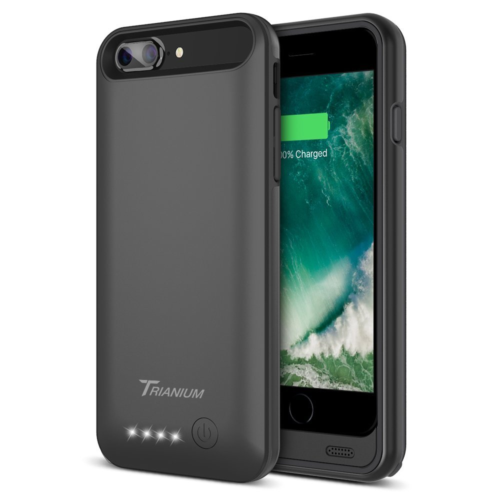iPhone 7 Plus Battery Case, Trianium Atomic Pro iPhone Portable Charger iPhone 7 Plus 2016 Charging Case [Black] 4200mAh, Power Banks For IPhone 7 & 7 Plus