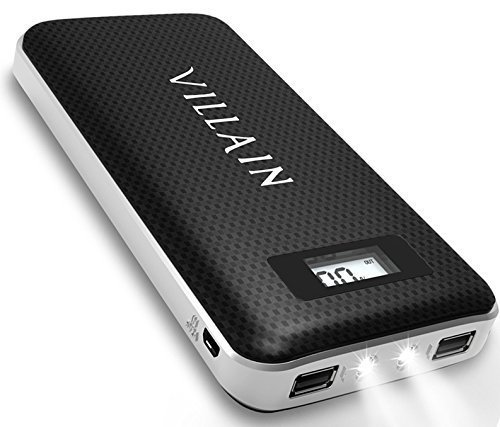 Villain - 20000mAh Portable Backup Battery Phone Charger - Power Banks For IPhone 7 & 7 Plus