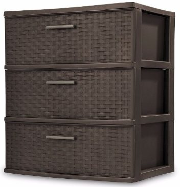 #9 Sterilite Sterilite 25306P01 3 Drawer Wide Weave Tower