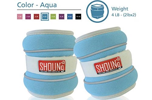 SHOUNg Reflective Ankle Weights / Wrist Weights with Adjustable Strap