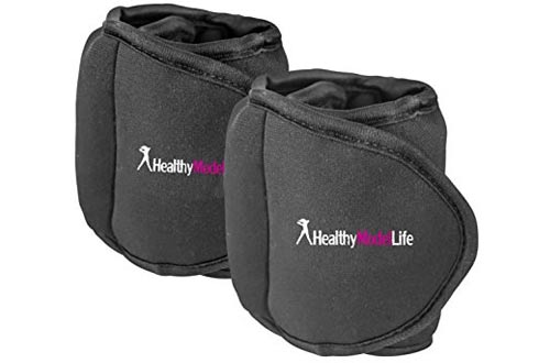 Ankle Weights Set by Healthy Model Life (2x5lbs Cuffs)