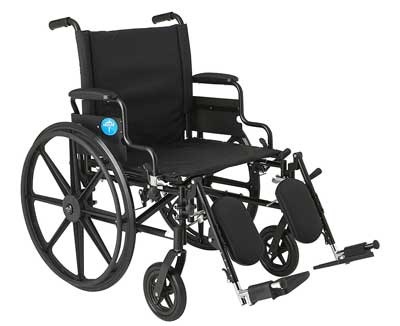 5. Premium Ultra-lightweight Wheelchair with Flip-Back Desk Arms and Elevating Leg Rests by Medline