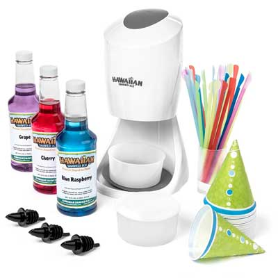 8. Hawaiian Shaved Ice Snow Cone Maker with Party Package