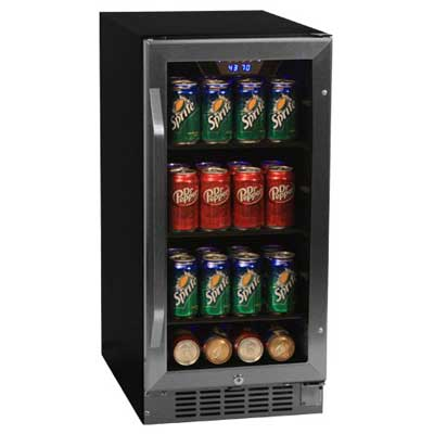 3. Stainless Steel 80 Can Beverage Cooler by EdgeStar