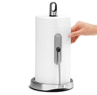 4. Stainless Steel Tension Arm Paper Towel Holder by Simplehuman