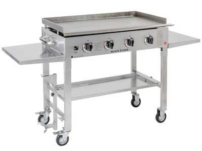 9. Blackstone Stainless Steel Outdoor Cooking Gas Grill