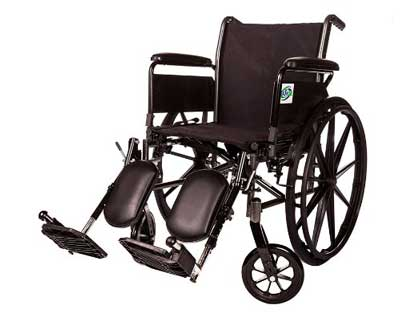 6. The Healthline Lightweight Wheelchair Arm Detachable with Elevating Legrest