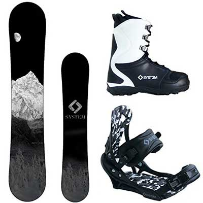 Best Snowboards - System MTN and APX Men's Snowboard for Adult in winter
