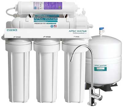 10. Top Tier Alkaline Mineral pH+ - 6-Stage Ultra Safe Reverse Osmosis Drinking Water Filter System by APEC Water Systems