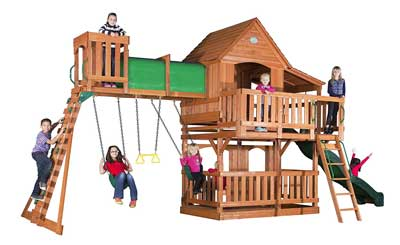 Best Wooden Swing Sets And Swing Play Sets For Family Backyard In 2019