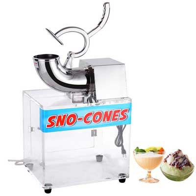 1. Yescom 250W Stainless Steel Snow Cone Maker - Electric Ice Crusher