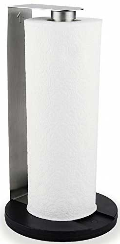 Best Paper Towel Holders - Stainless Steel Paper Towel Holder - Counter Top Vertical Upright