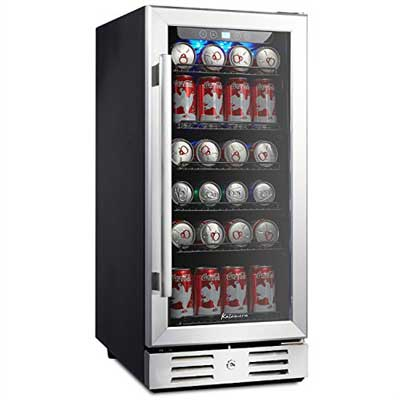 2. 15 Inches 96 Beverage Cooler Can - Freestanding Single Zone Touch Control by Kalamera