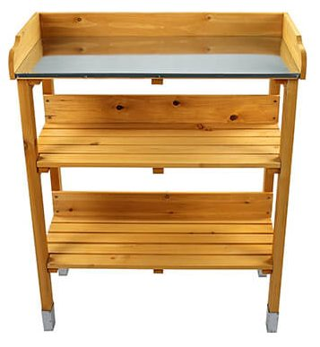 hoodmimis outdoor wooden garden potting bench