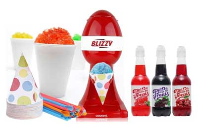 4. Snow Cone Maker Set - Snow Cone Machine by Blizzy