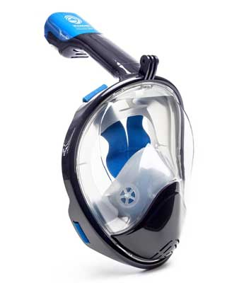 1. Seaview 180° GoPro Compatible Snorkel Mask with Tubeless Design