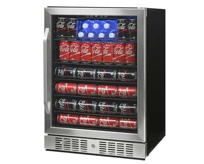 4. 177 Can Deluxe Beverage Cooler Stainless Steel by NewAir