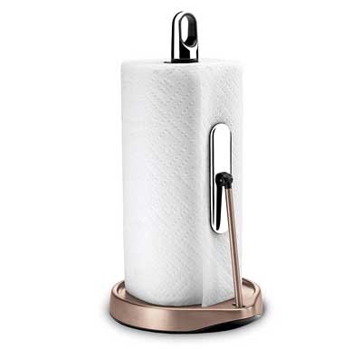 7. Simple Human Stainless Steel Tension Arm Paper Towel Holder