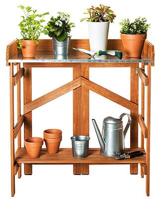 vytal folding potting bench
