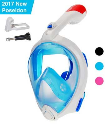 8. 180° Panoramic View Full Face Snorkel Mask - Natural Breathing with Longer and Foldable Tube by Dowellife