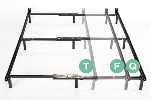 zinus compack adjustable steel bed frame for box spring u0026 mattress set