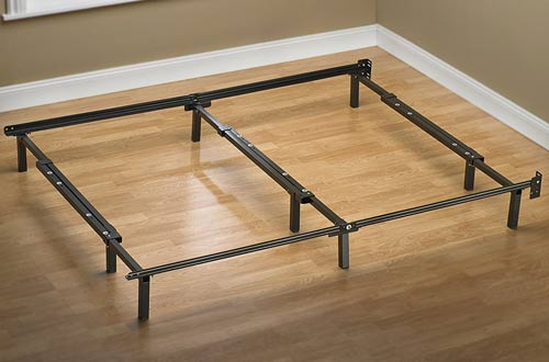 Zinus Compack Adjustable Steel Bed Frame, for Box Spring & Mattress Set