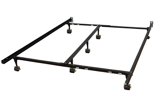Classic Brands Hercules Universal Heavy-Duty Metal Bed Frame | Adjustable Width Fits Twin